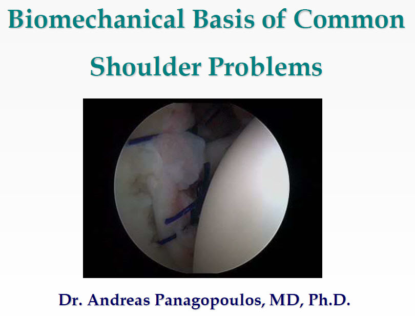 Biomechanical basis of common shoulder problems